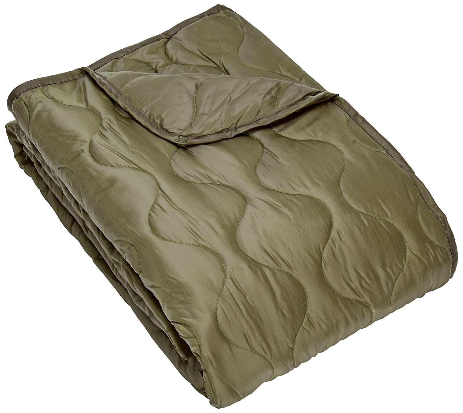 Army Style Poncho Liner Quilted Travel Car Blanket Sleeping Bag Ripstop Olive Mil-Tec 14425001