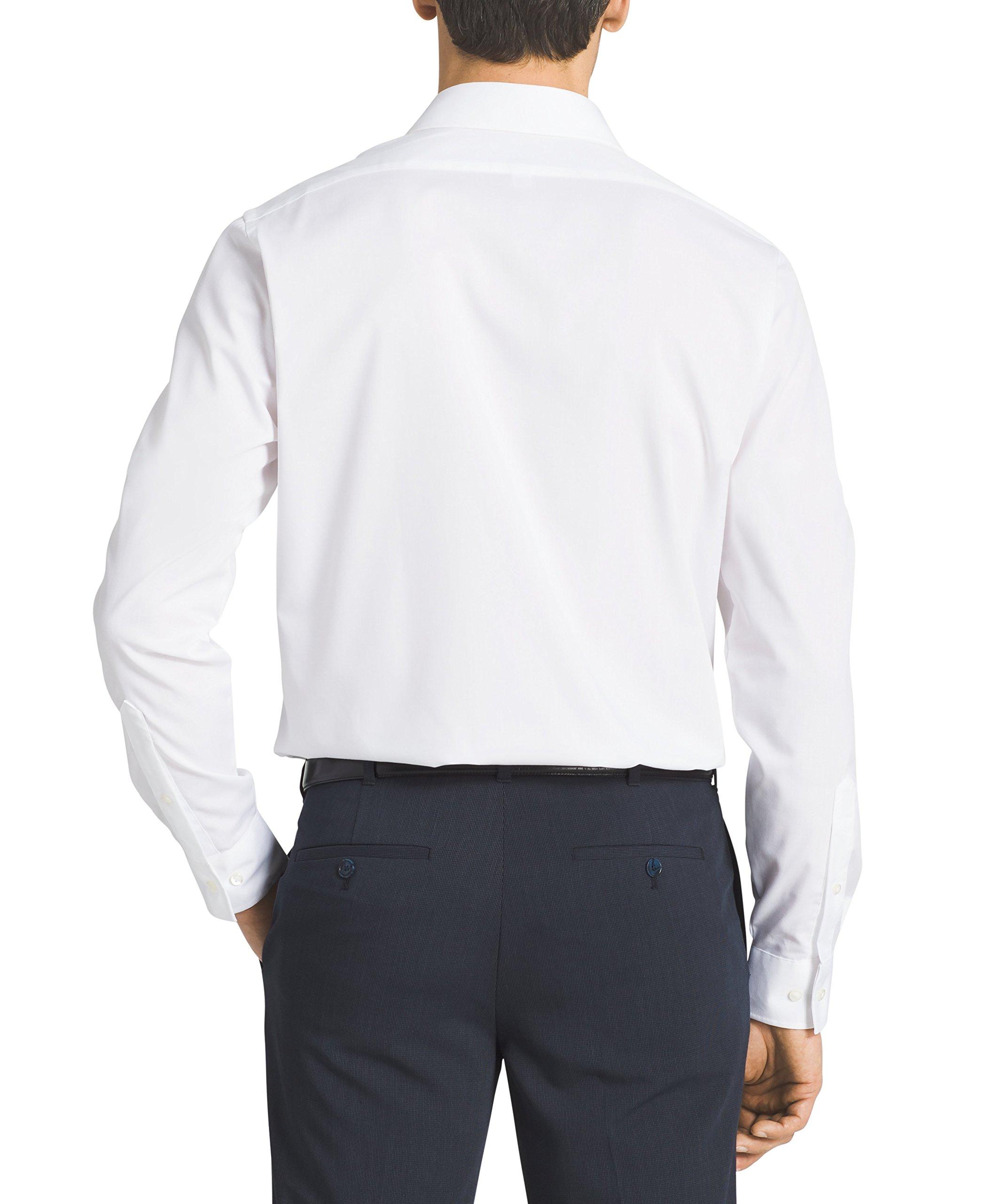 Van Heusen Men's Flex Collar Regular Fit Solid Spread Collar Dress Shirt, White, 16.5'' Neck 32''-33'' Sleeve by Van Heusen (Image #5)