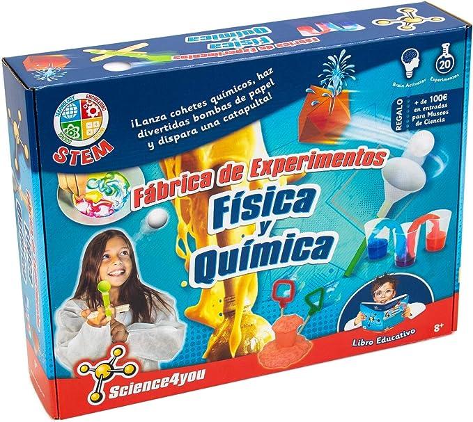 Science4you-Fábrica de Experimentos-Quimica Y Fisica, Multicolor (605237): Amazon.es: Juguetes y juegos