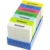 Borin-Halbich The 7Pack® 7 Day 3 Compartment Pill Organizer Dark Blue Tray (Made in the USA)