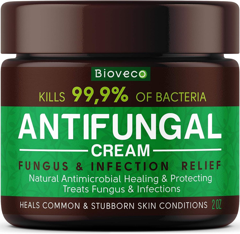 Antifungal Cream - Toenail Fungus Treatment & Athletes Foot Cream - Made in USA - Powerful Skin Fungus Cream - Eczema, Jock Itch & Ringworm Treatment - Natural Anti Itch Cream - 2 OZ