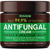 Antifungal Cream - Toenail Fungus Treatment & Athletes Foot Cream - Made in USA - Powerful Skin Fungus Cream - Eczema…