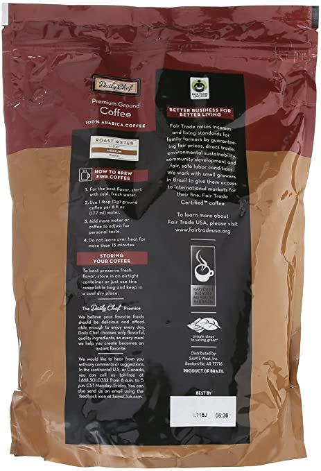 Amazon.com : Member Mark Premium Arabica Ground Coffee 40 Ounce : Grocery & Gourmet Food