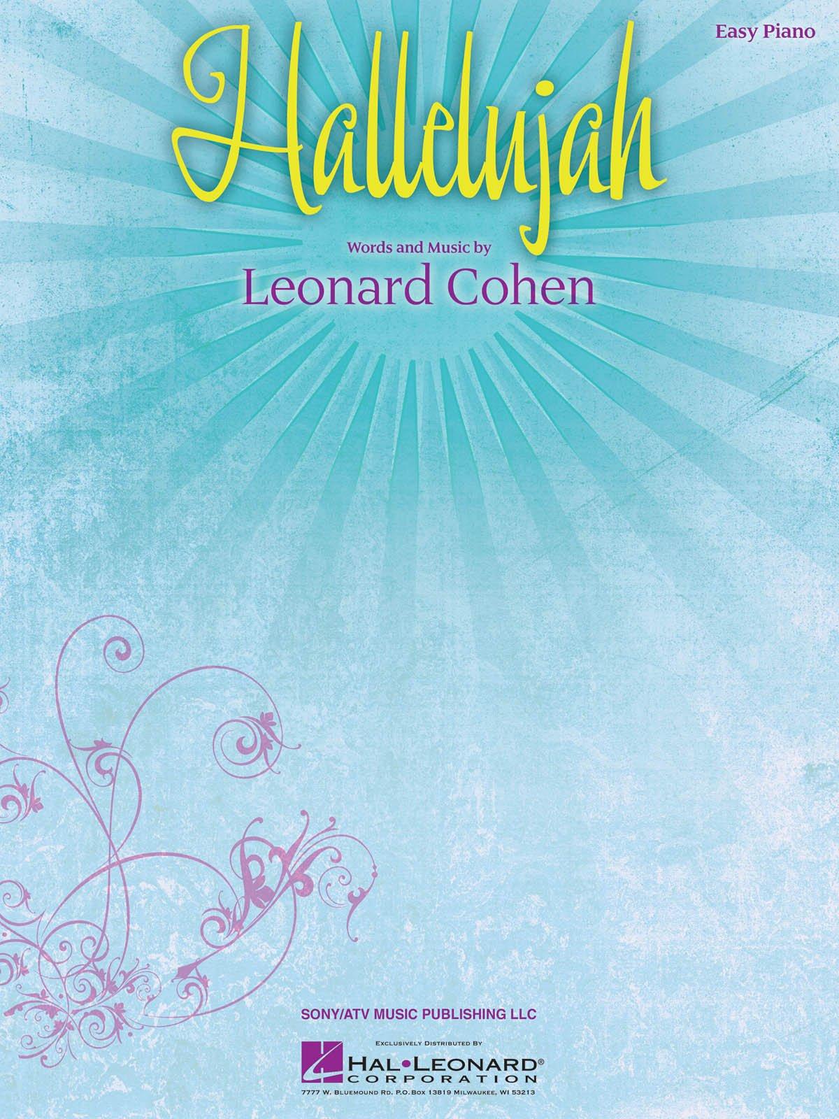 Hallelujah - Leonard Cohen Partition – 1995 Hal Leonard B003A5UQGK