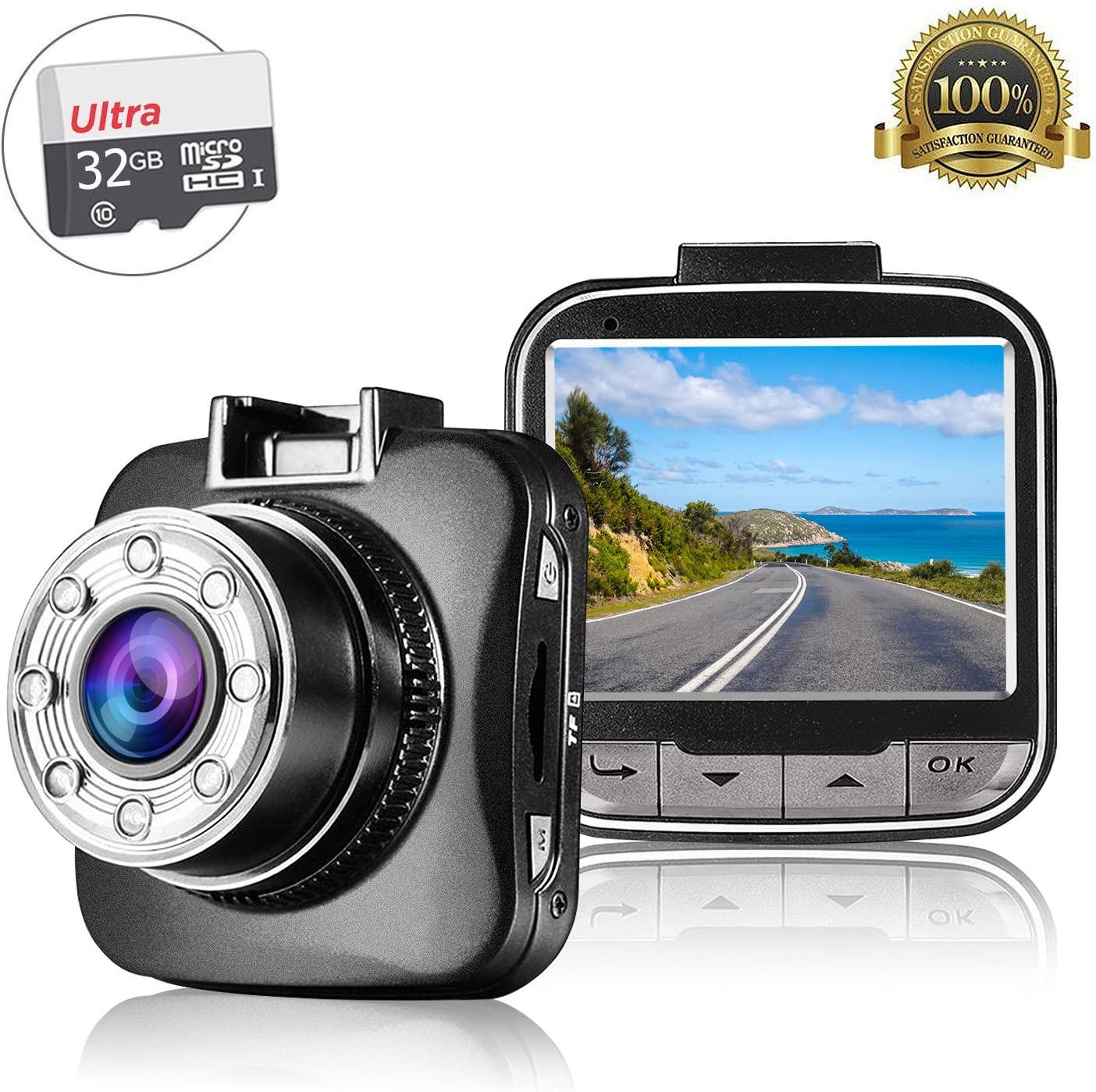 Sony Sensor 3-Inch LCD Display G-Sensor 170/° Wide Angle Parking Guard Dash Cam 1080P Motion Detection WDR /& Super Night Vision COGA 2021 New Loop Recording