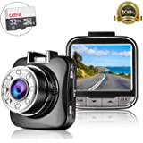 [Upgraded] Car Dash Cam - Napoer HD 1080P Car Dashboard Camera with 32GB SD Card, 170° Wide Angle Car Camera, Sony G-Sensor, Night Vision, WDR, Parking Guard, Loop Recording Dashboard Camera Recorder