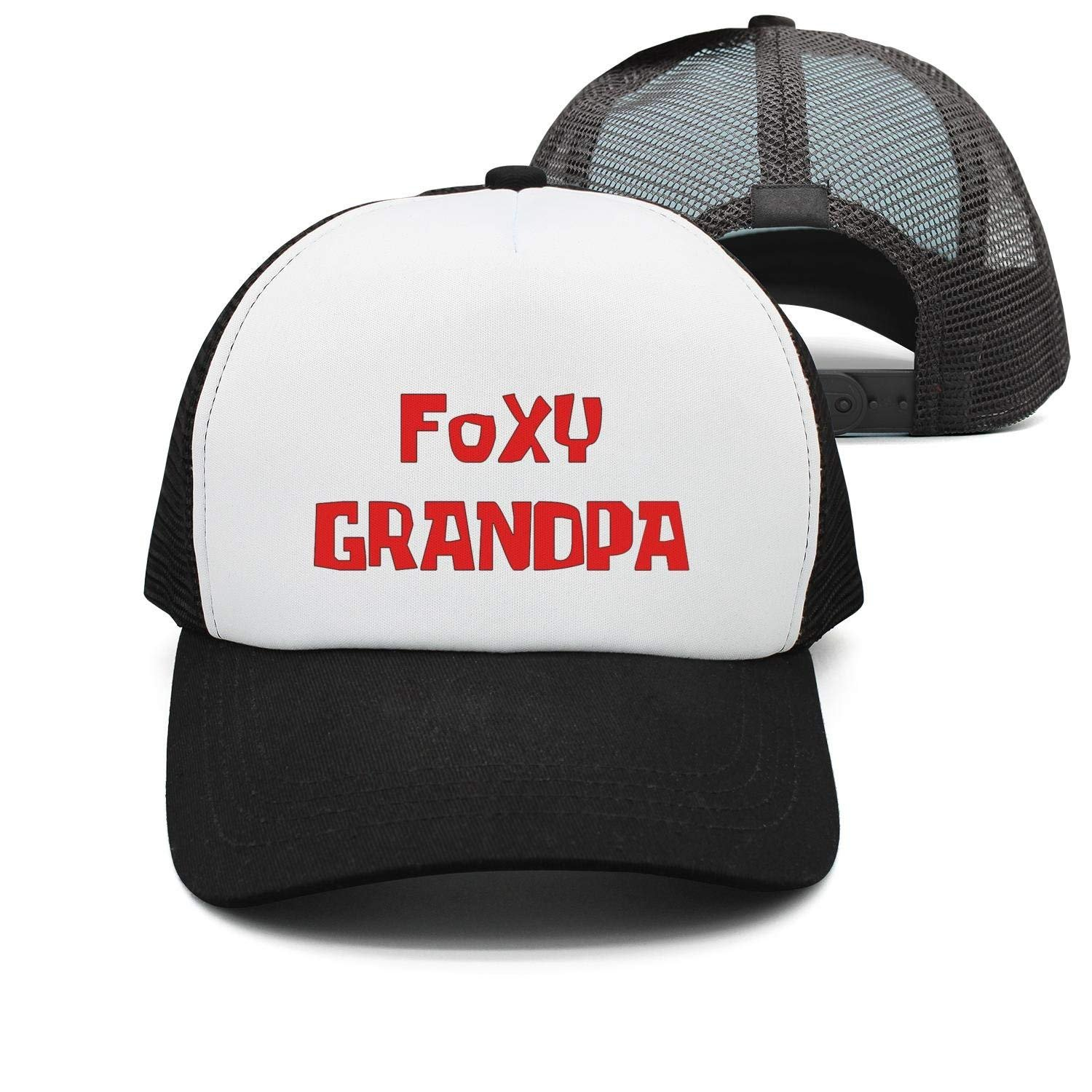 Funny Cool Baseball Caps Foxy Grandpa Mesh Truck Fashion Unisex Trucker Hats  at Amazon Men s Clothing store  4bf5f25b576