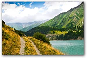 Canvas painting Mount Scenery, nature landscape. - printed on Canvas with internal wooden total Size: 80CM Width x120 CM High