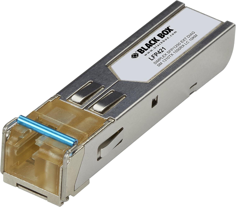 Black Box SFP 1250Mbps Extend Diag 1310nm TX 1550nm RX SIMP SM Fiber 10km LC