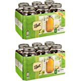 JARDEN HOME BRANDS 68100 Ball 6Pack 1/2Gallon Wide Mouth Jar - 2 Box