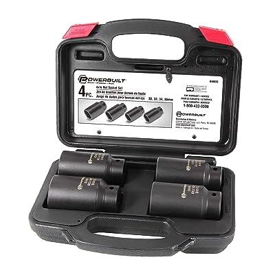 Powerbuilt 4 Piece Axle Nut Socket Set Kit 10 - 648635