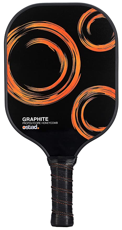 Ostad Graphite Pickleball Rackets - Durable Pickleball Paddle Racket Set with Composite Core and Ergonomic Design is Perfect for Pain Free Grip 7-8 oz