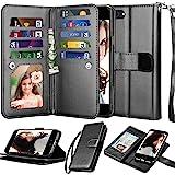 Njjex Wallet Case for iPhone SE 2020/SE2, for iPhone 8/iPhone 7 Case, [9 Card Slots] PU Leather Credit Holder Folio Flip [Det