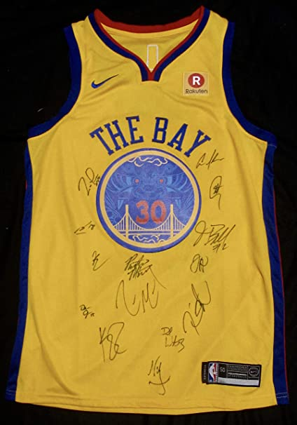 los angeles 26dfd a9a3b 2017-18 GOLDEN STATE WARRIORS Team AUTOGRAPHED Hand SIGNED ...