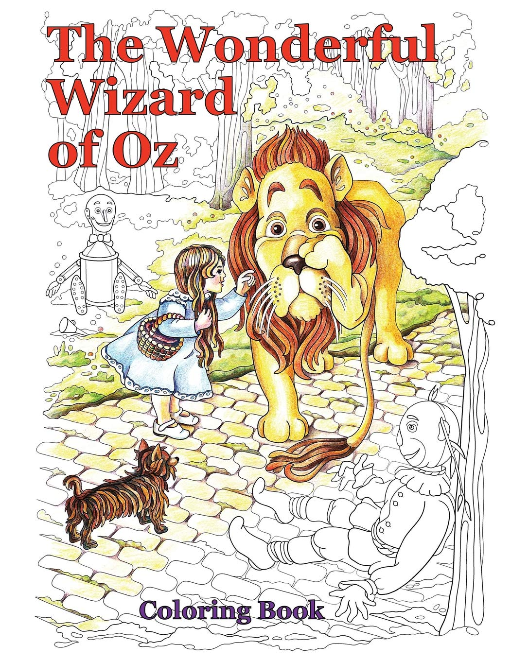 Wonderful Wizard of Oz Coloring Pages | 1360x1051