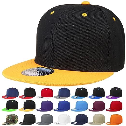 1ed7a14168465 Falari Snapback Hat Cap Hip Hop Style Flat Bill Blank Solid Color  Adjustable Size G201-