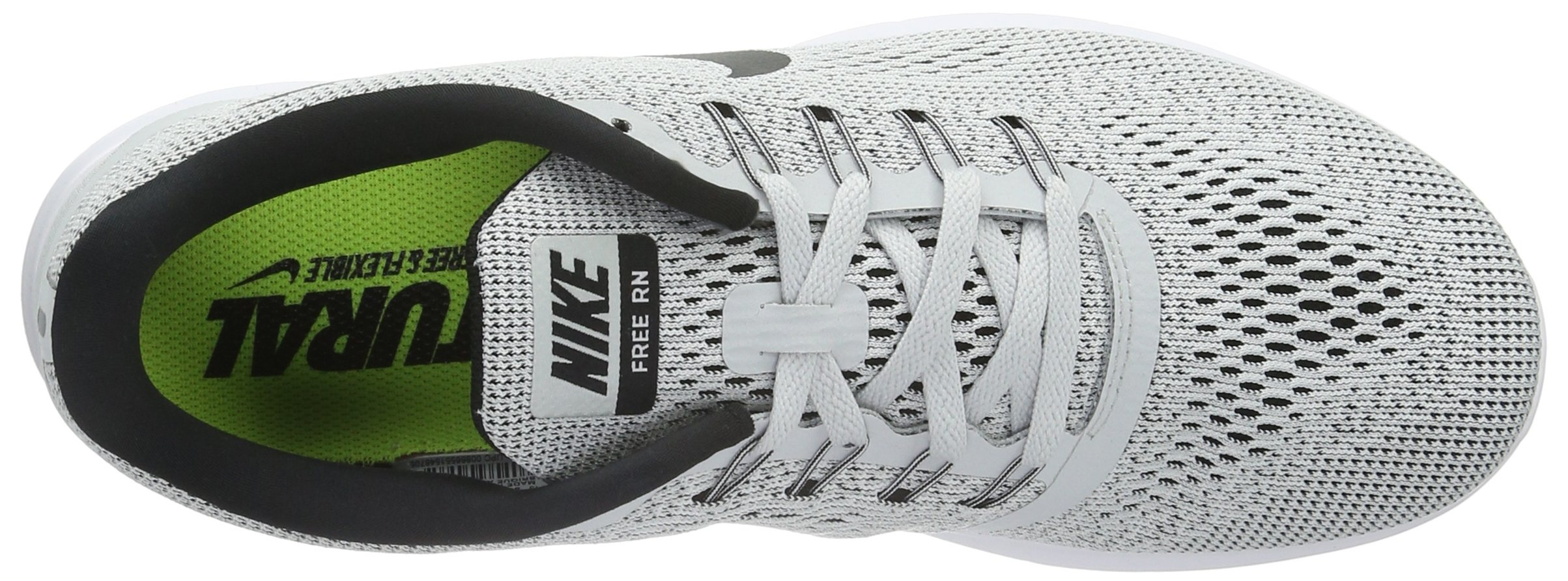 Nike Womens Free Rn Low Top Lace Up Running Sneaker, White, Size 5.5 by Nike (Image #6)