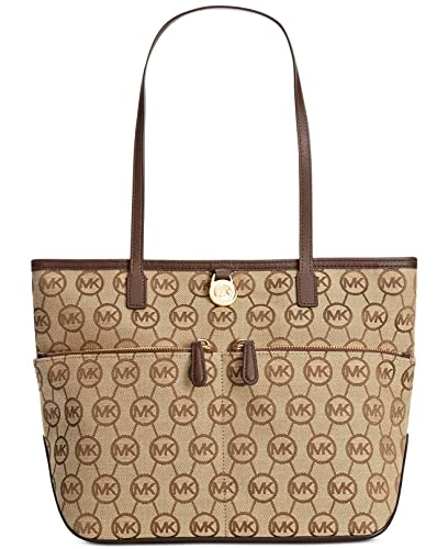 d9366c01be7f Amazon.com: Michael Kors Kempton Medium Pocket Tote Handbag (Medium, Mocha  Signature): Shoes