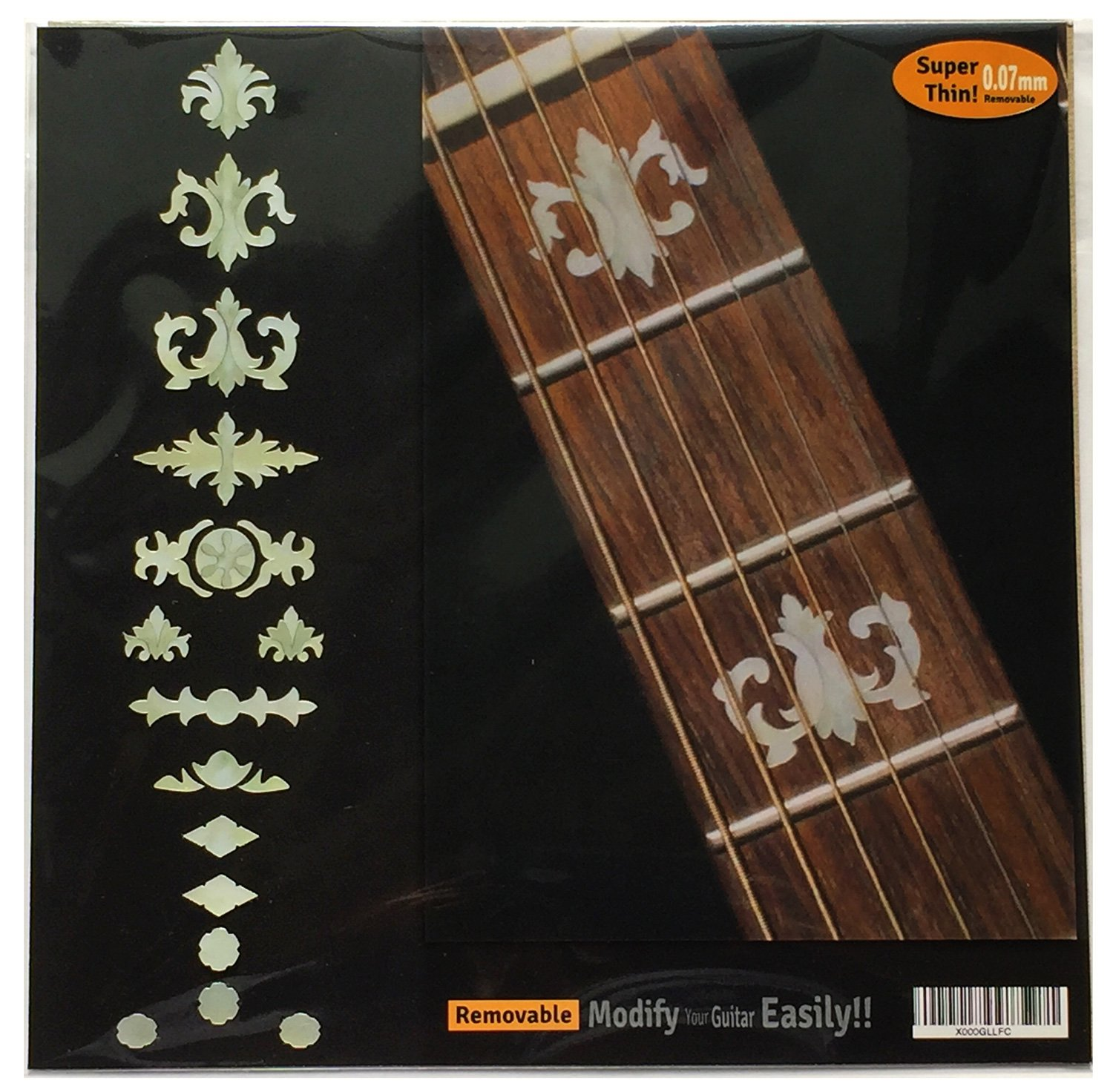 Amazon com fretboard markers inlay sticker decals for guitar bass banjo aged banjo type wp musical instruments