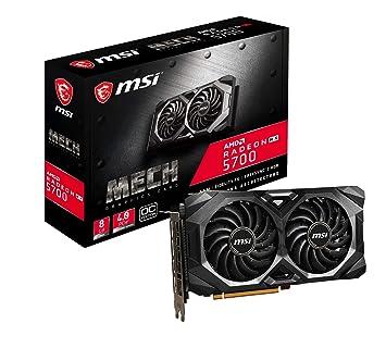 MSI Radeon RX 5700 Mech OC - Tarjeta gráfica Enthusiast (256 bits, 8 GB GDDR6, HDMI, DP, PCI Express 4.0)