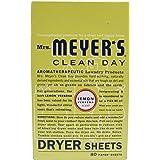 Mrs. Meyer's Clean Day Dryer Sheets, Lemon Verbena, 80 ct