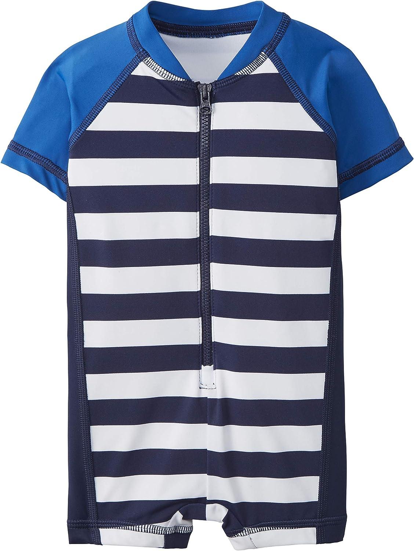Hanna Andersson BBY Stripe SS Rashguard Suit