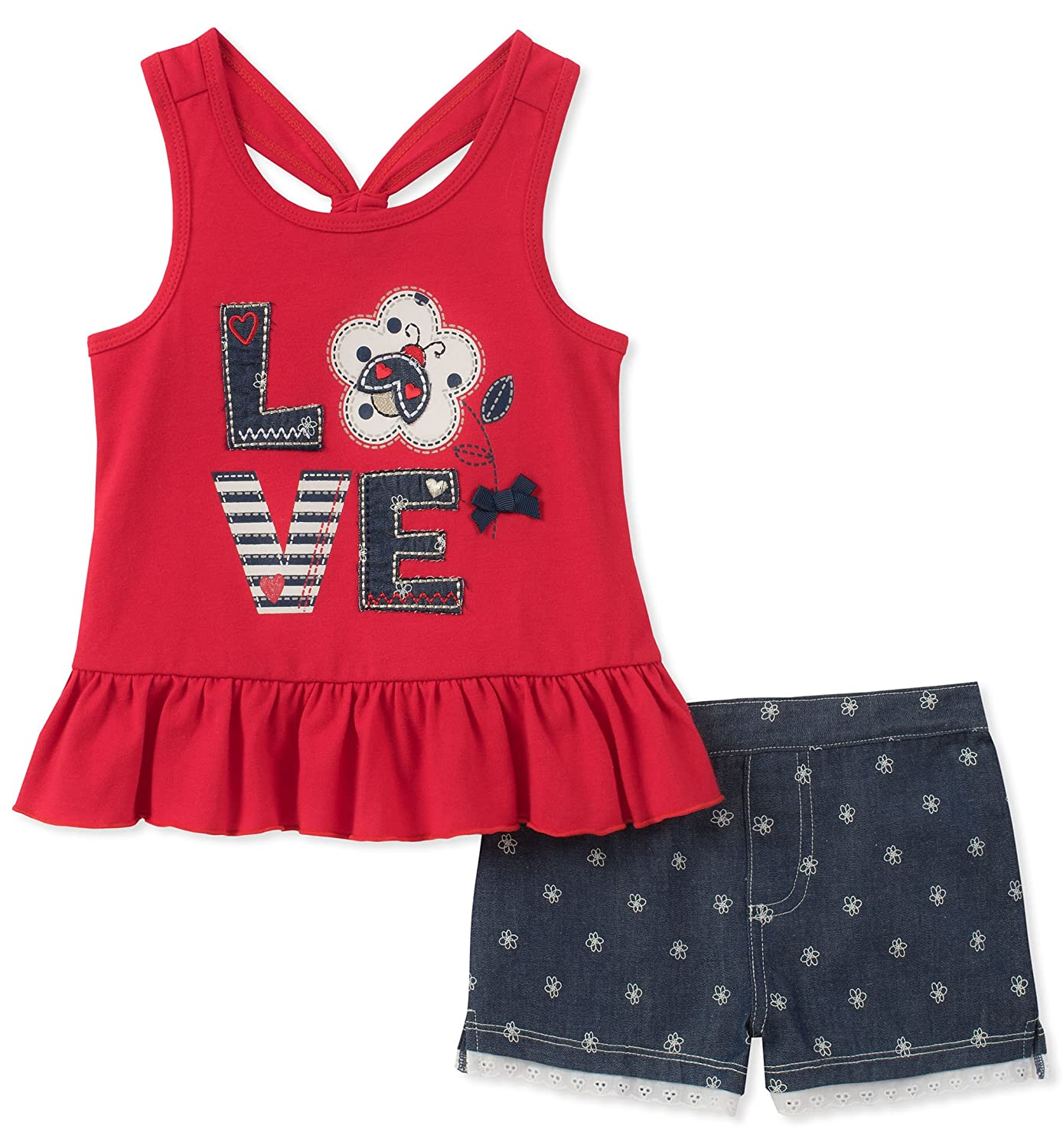 Kids Headquarters Baby Girls 2 Pieces Shorts Set
