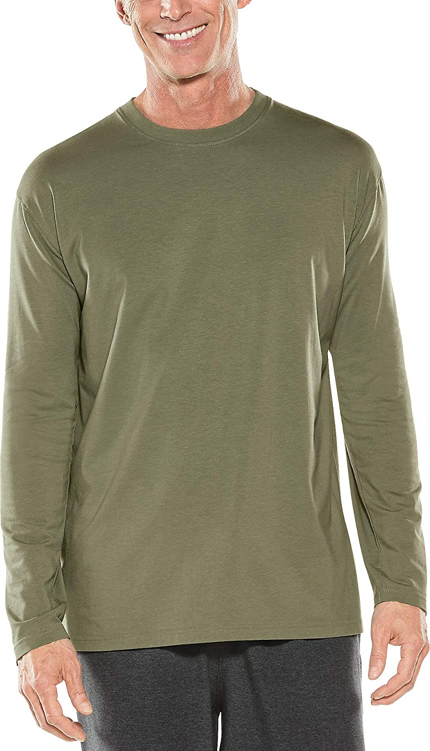 Coolibar UPF 50+ Men's Morada Everyday Long Sleeve T-Shirt - Sun Protective