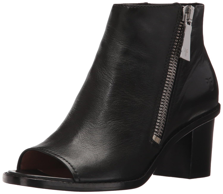 FRYE Women's Brielle Zip Peep Bootie Boot B01MU71W5O 7.5 B(M) US|Black Polished Soft Full Grain