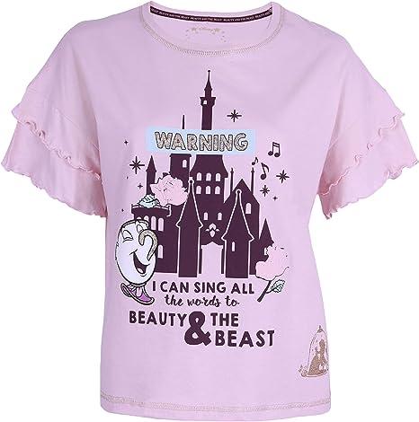 Blusa Rosa La Bella y la Bestia Disney: Amazon.es: Ropa y accesorios