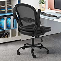 SAMOFU Office Task Desk Chair with Flip-up Arms and Adjustable Height
