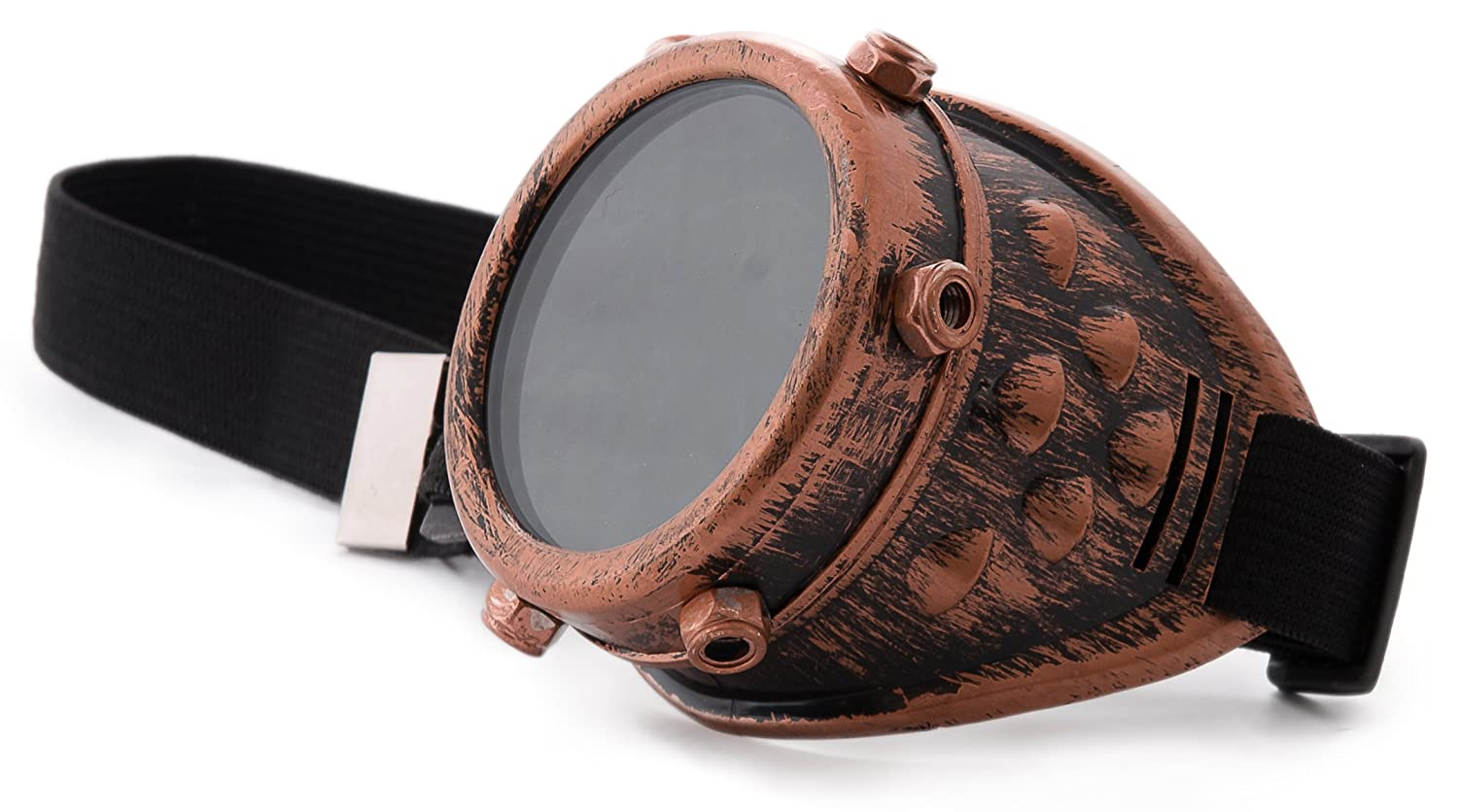 4sold (TM) Steampunk Black Cyber Goggles Rave Goth Vintage Victorian like Sunglasses 4sold ltd b-1