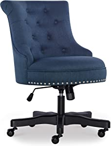 Linon Home Décor Leslie Azure Blue Office Chair