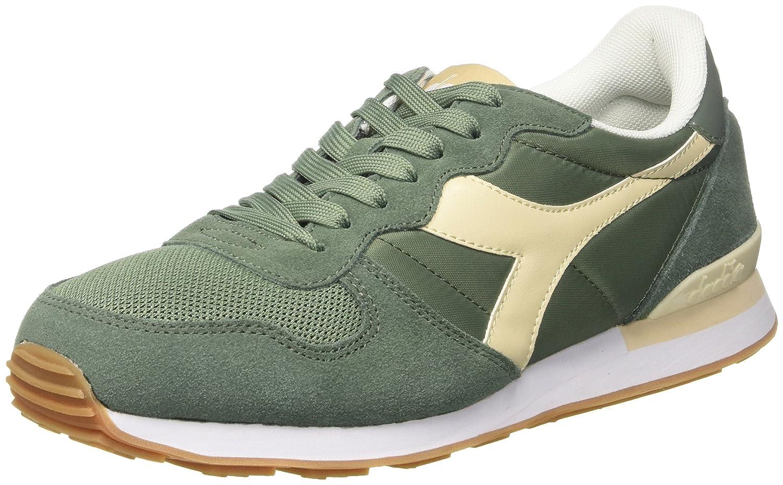 Diadora Camaro, Zapatillas de Gimnasia para Hombre 45 EU|Verde (Vrd Golf Clubbeige Candeggiat)