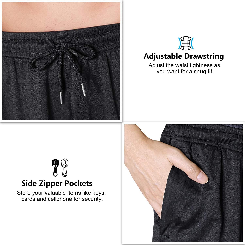 WHCREAT Pantaloni da Jogging Sportivi da Uomo con Tasche con Cerniera