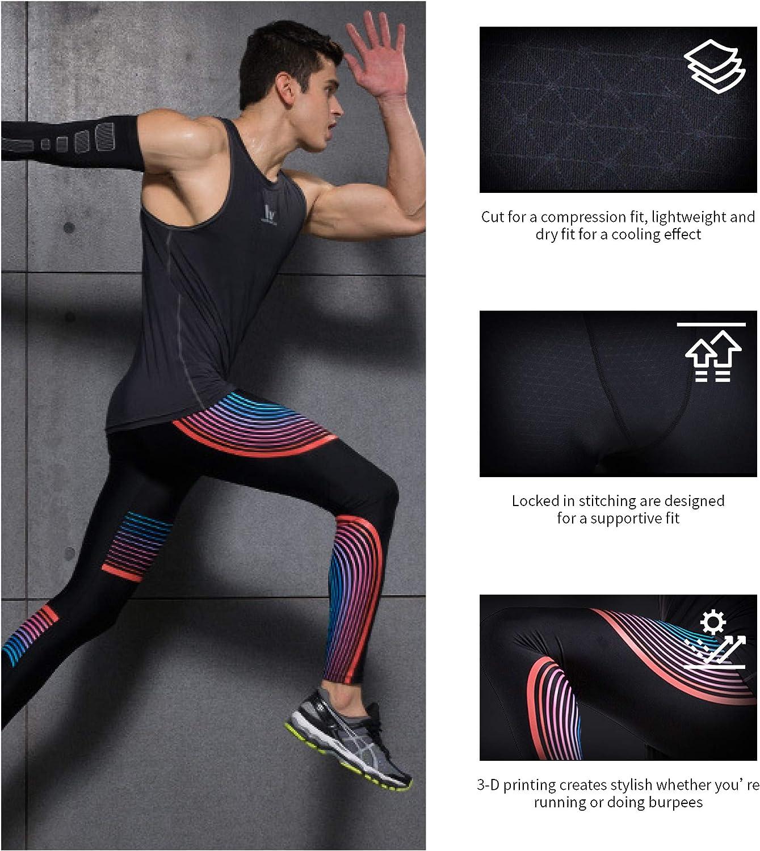 Ligne Noire M Alimagic Legging Homme Cool Dry Fitness Sport Pantalons et Compression Collant pour Running Jogging Cyclisme Course Pantalons de Compression pour Hommes