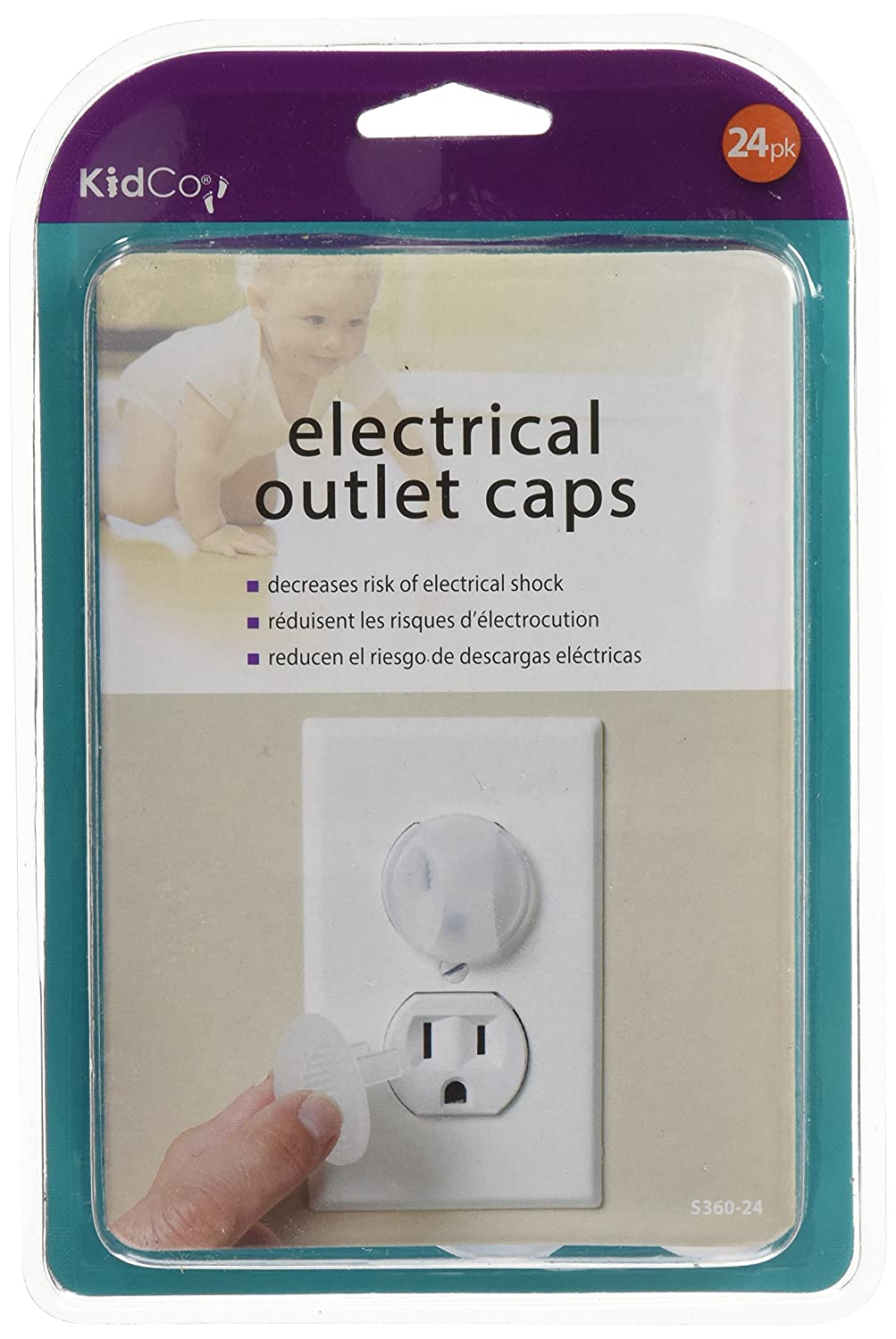 White KidCo Electrical Outlet Caps 24 pack