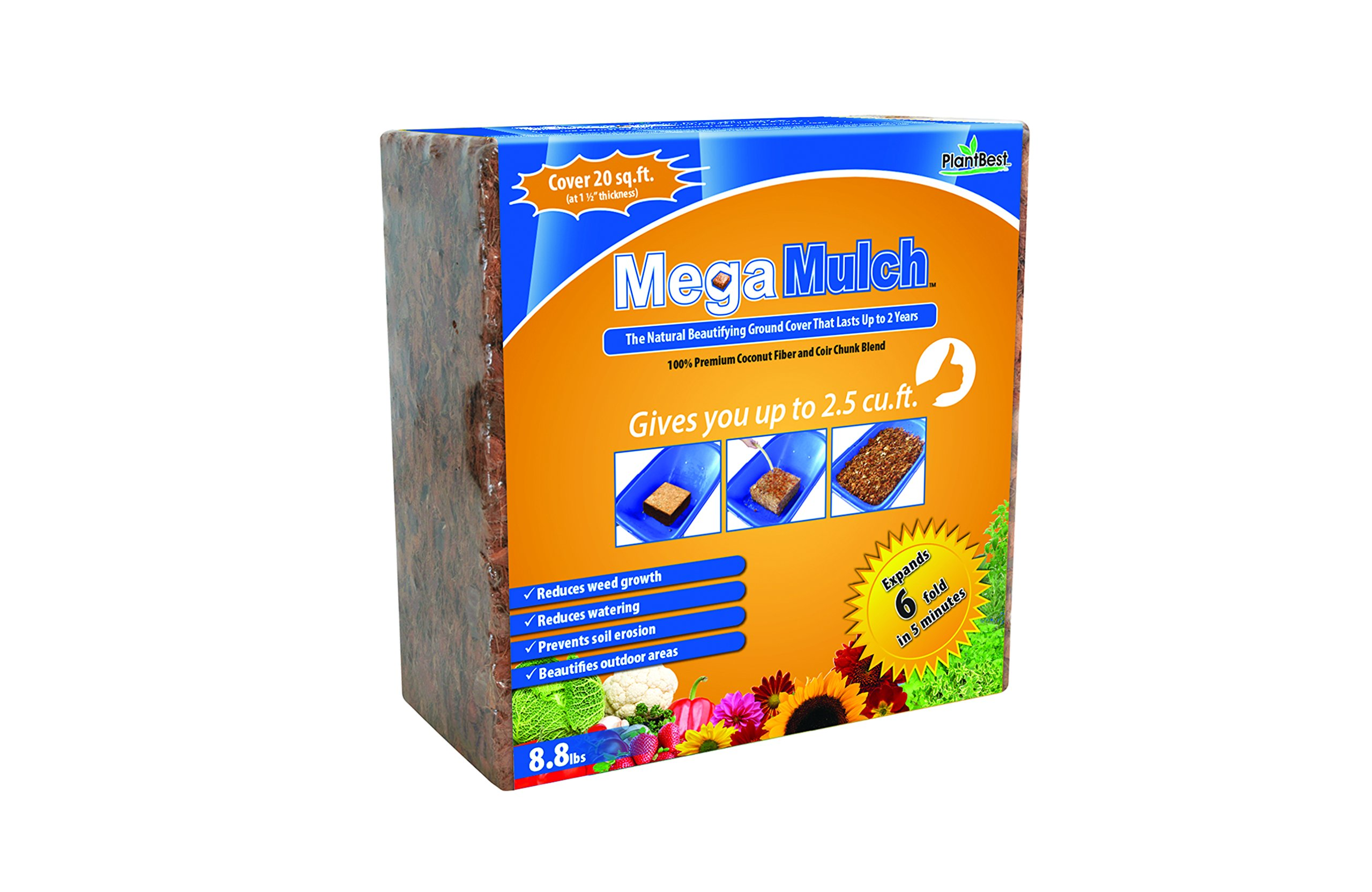 PlantBest Mega Mulch 8.8lbs by Planters Pride