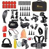 Kitway 50 in 1 Accessori Kit per GoPro Hero6 5 4 3+ 2 1 Black and DBpower/ SJCAM SJ5000X APEMAN/ Campark 4K Act76/ Tonbux/ WiMiUS Action Cam