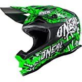 O 'Neal 7series MX Casco EVO Menace Neon Verde Moto Cross Moto, 0583 M de 10