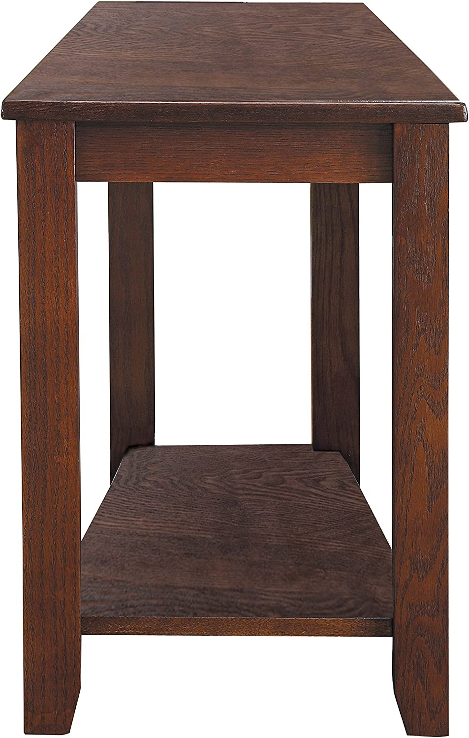 Homelegance Elwell Wedged Chairside Table Table, Espresso