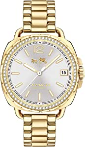 Coach Tatum Crystal Women's Silver Dial Stainless Steel Watch - 14502589 Gold