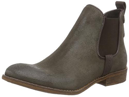 Mustang Chelsea Boot - botines chelsea de cuero mujer, color marrón, talla 41: Amazon.es: Zapatos y complementos