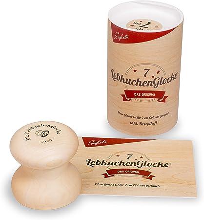 Gebäckform Backform Plätzchenform Vanillekipferl 14,5 x 6,5 cm aus Ahornholz