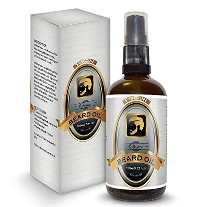 starzine obistar Aceite Acondicionador Barba 100ml/3.52fl.oz MEJOR Aceite Barba Para Crecimiento