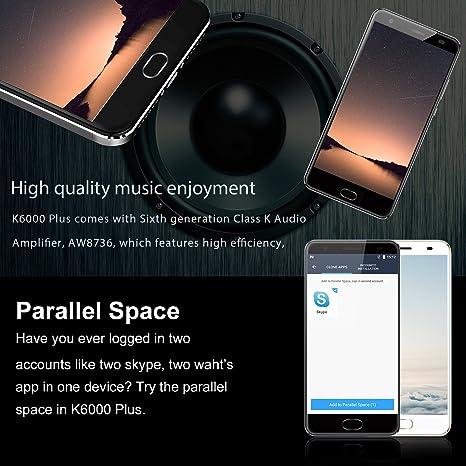 OUKITEL K6000 Plus - 6080mAh Smartphone Libre 4G de 5.5FHD ...