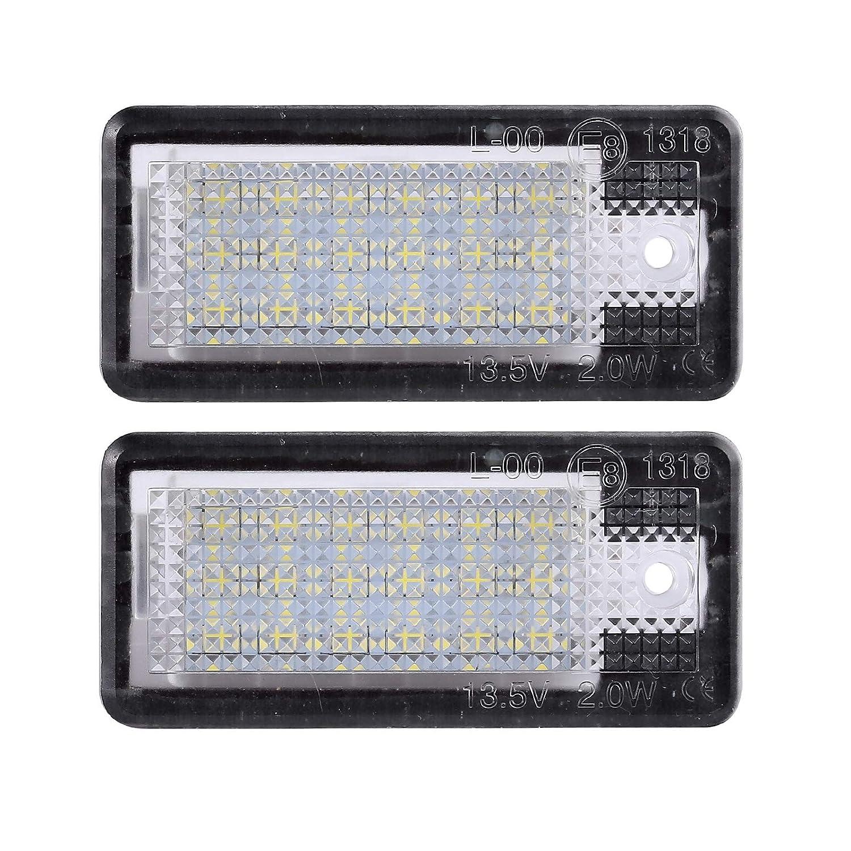 2 X LED Luces de la Placa de Matr/ícula Luces Traseras 5050 SMD LED Universal 12V