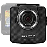 maisi M60 1296p HD In Car Dash Cam Camera DVR Digital Driving Video Recorder with Smart Collision Detection (Wide Viewing Angle, 2304x1296 Pixels, 2.4 Inch LCD Color Display, Advanced G-Sensor)
