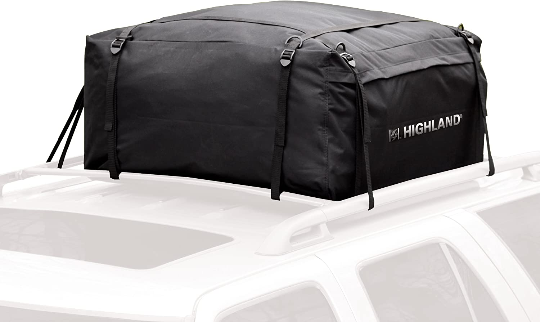 Highland 1038800 Black 10 cu.ft Weather Resistant Car Top Bag with Storage Sack