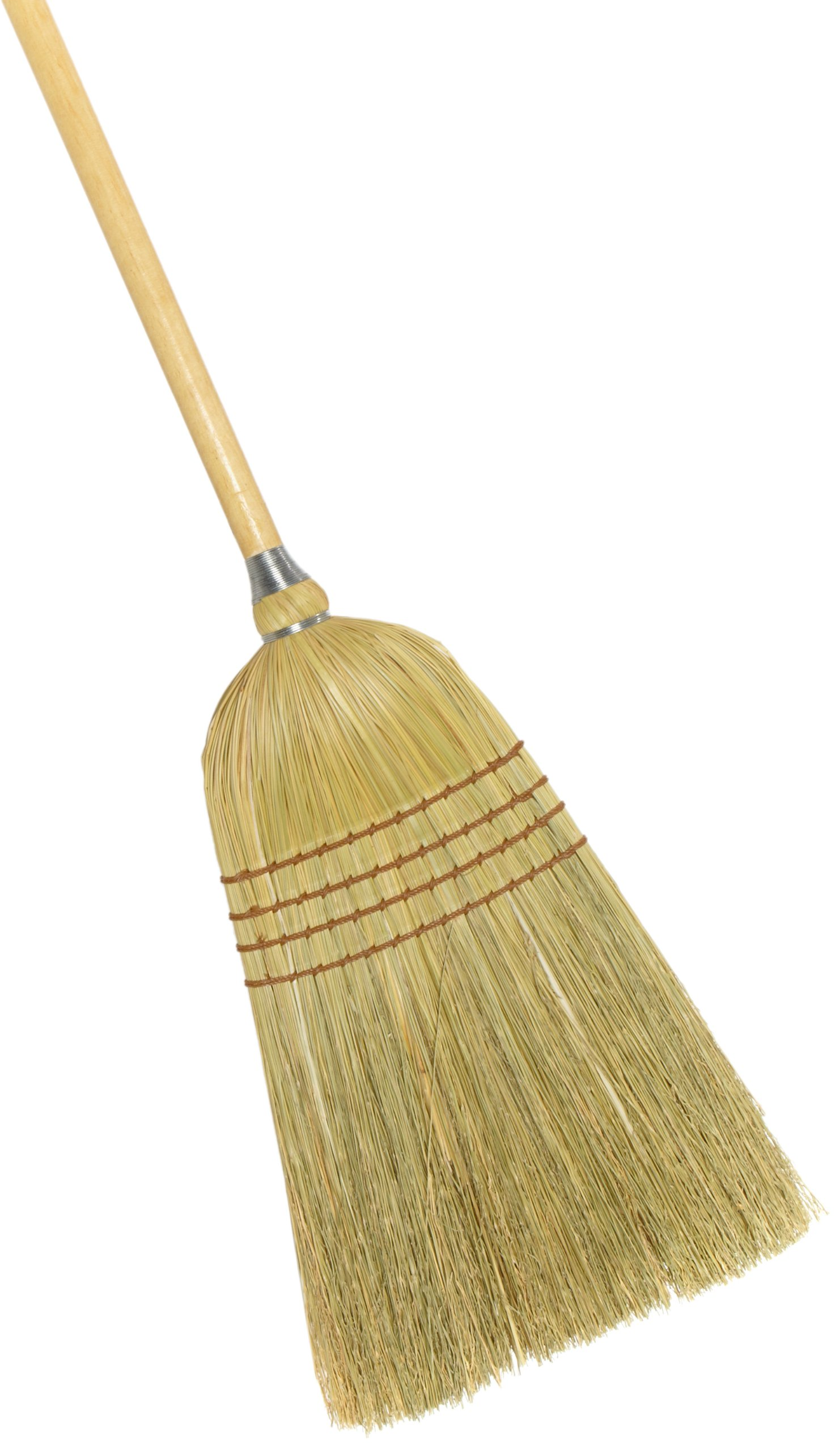 Weiler 44009 Corn Fiber Light Industrial Upright Broom with Wood Handle, 1-1/2'' Head Width, 54'' Overall Length